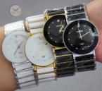 Элегантное платье алмазы мужчины женские наручные часы аналоговый кварцевые керамические стали круглый LONGBO часы пара любитель часы