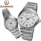 Easman часы 1 пара любовник мода свободного покроя дата и день водонепроницаемый многофункциональный кварцевые часы для любителей Laides мужские наручные часы