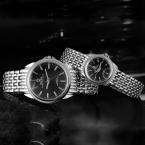 Мужская Полный Нержавеющей Стали Кварцевые Часы Пару Часов Аналоговые Кварцевые Часы Женщины Одеваются Модные Часы