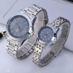BOSCK 1081 Стальная Цепь Часы Алмаз Круглый для Пары