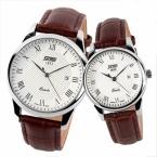 Пара наручные часы женщины мужчины кожаный ремешок для любителей мода свободного покроя дамы кварцевые люксовый бренд Relogios Femininos