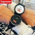 Европа кварцевые часы мужчины luxury brand кожаный ремешок любителей женщины одеваются смотреть старинные женева спорт пара relogios наручные часы