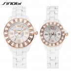 Sinobi часы любителей  роскошные водонепроницаемый пары часов Hardlex кварцевые белые Reloj хомбре марка де Lujo женские наручные часы ЧАСЫ ЖЕНСКИЕ НАРУЧНЫЕ
