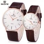 Новинка бренд кварцевые часы любители часы ультратонкий кожа платье наручные часы свободного покроя пару часов подарки для любовника