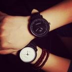 Мода корейский стиль моде любители пару часов мужчин , женщин аналоговые кварцевые часы для валентина подарок кожа наручные часы