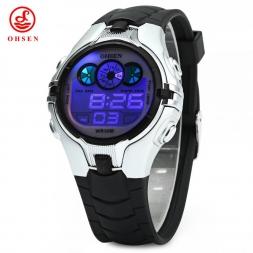 Ohsen мальчики дети дети смотрят люксовый бренд мода спортивные часы цифровых водонепроницаемый наручные часы Relogios Masculinos