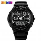 S  новый SKMEI люксового бренда мужчин военные спортивные часы цифровой из светодиодов кварцевые наручные часы каучуковый ремешок relogio masculino