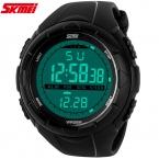 новый SKMEI люксовый бренд мужчины мода свободного покроя часы цифровые из светодиодов наручные часы каучуковый ремешок relogio masculino