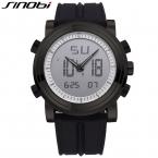 Оригинал SINOBI черный спортивные часы для мужчин из светодиодов цифровой дисплей мужские часы хронограф 24 ч. силиконовой лентой часы мужской