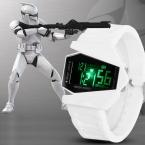 Новинка дизайн звездные войны мужские часы мужской из светодиодов цифрового будущего свободного покроя секундомер наручных часов Relogio Masculino