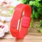 горячий мода спорт из светодиодов часы дамы цвета конфеты силиконовой резины сенсорный экран цифровые часы, Часы женщины браслет наручные часы