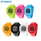 Synoke новый бренд водонепроницаемый дети смотрят мода спортивные из светодиодов цифровой - часы 7 многоцветные женева силиконовые желе дети часы