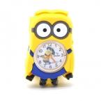 3D глаз гадкий я миньон мультфильм часы драгоценные молоко папа симпатичные дети часы детские малыш кварцевые наручные часы для девушки парни