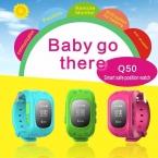 GPS Tracker Часы Для Детей SOS Чрезвычайных Борьбе Потерянный Браслет Браслет Q50 Носимых Устройств OLED осыпи для Смарт-Телефон Приложение