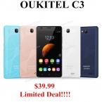 "Оригинал OUKITEL C3 5 ""HD IPS Android 6.0 MTK6580 Quad Core 3 Г WCDMA смартфон 5MP 1 ГБ ram 8 ГБ rom dual sim Google Play Магазин"