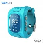 Wonlex дети GPS трекер часы носимых устройств LBS GPS WIFI тройные позиционирования android-ios часы телефон GW300 сторона sim-слот