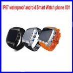 "IP67 водонепроницаемый android Смарт телефон Вахты X01 1.54 ""240*240 экран dual core 512   4 ГБ смарт часы GPS 3 Г ZGPAX S8 smartwatch"