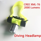 Нью-cree XM-L T6 2000lm из светодиодов подводный водонепроницаемый 20 м дайвинг фары фара погружение фонарик головной свет лампы факел