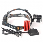 8000LM Boruit RJ-3001 3x XM-L T6 LED USB Фар 3T6 8000 Люмен Фара Фонарик Факел Lanterna Фары   Аккумулятор/зарядное устройство