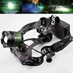 2000 Люмен XM-L T6 СВЕТОДИОДНЫЙ Масштабируемые Фар Глава Лампа Факела Фары Фонарик 3-режимы Кемпинг Рыбалка Восхождение лампы