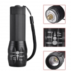 Singfire SF-508 из светодиодов 300lm 3-режиме мини масштабирование из светодиодов фонарик факел - черный ( 3 x AAA аккумулятор )