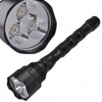SingFire SF-500 750lm 5-Mode Белый Светодиодный Фонарик ж/3 х CREE XR-E Q5 18650 Батареи-Черный