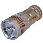 Singfire SF-134 3 x нью-cree XM-L T6 2000lm 3-Mode тактический из светодиодов фонарик - золотой   серебро ( 4 x 18650 )