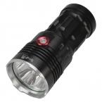 Singfire SF-134B 4 x нью-cree XM-L T6 2500lm белый 3-режиме свет фонарика - черный ( 4 x 18650 )