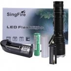 Singfire SF-85 800lm нью-cree XM-L T6 5-Mode нейтральный белый масштабирование из светодиодов фонарик - черный   золотой ( 1 x 18650 )