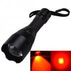 Singfire SF-360R кри XP-E R2-N4 500lm 3-Mode масштабирование красный охота из светодиодов фонарик with1 x 18650 - черный