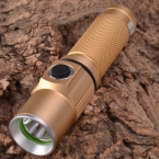 Singfire SF-361B 450lm 3-Mode белый мини из светодиодов фонарик ж / кри XP-E R2 опция-champagne ( 1 x 18650 )
