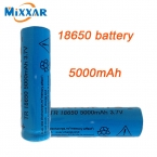 2 шт. яркий свет фонарика литиевая аккумуляторная батарея 3.7 В 18650 5000 мАч литиевая батарея