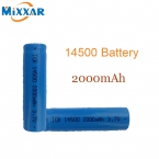 Яркий свет фонарика аккумуляторная 3.7 В 14500 2000 мАч литиевая батарея