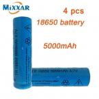 4 шт. яркий свет фонарика литиевая аккумуляторная батарея 3.7 В 18650 5000 мАч литиевая батарея