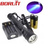 10 Вт под водой 100 м фиолетовый уф-гель 395-400nm 3x XPE из светодиодов дайвинг фонарик водонепроницаемый вспышка света   18650   зарядное устройство