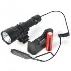 Высокое качество 2000LM фонарь C8 XML T6 из светодиодов фонарик Linterna фонарик охота вспышка света   18650   зарядное устройство   артиллерийская установка