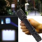 Супер яркость 2000 люмен XML T6 из светодиодов фонарик факел тактический 5 режим масштабируемые вспышка света linternas для кемпинга по 2 x 18650