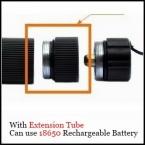 Нью-фонарик аксессуары расширенный трубы преобразования расширение часть для фонарей может использовать с батарея 18650