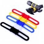 Высокая прочность эластичный силиконовый исправлена велосипед ремни для мобильного телефона фонарик ремень бинты велосипед аксессуары