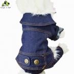 Ковбой Жан Одежда Для Собак Всех Сезонов Одежда Для Собак Pet одежда Твердые Пальто Куртки Кошка Теплое Пальто Высокое Качество Бесплатно доставка