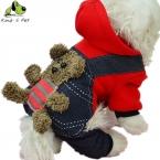 100 percent  Хлопок Четыре Ноги Gummy Bear Pattern Зима Теплая Собака пальто Толстовки Маленькие Толстовки Костюм Одежда Одежда Для Собак Желтый красный
