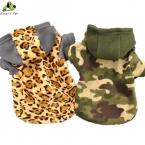 Осень зима собака флис камуфляж толстовки свитер пальто темно-зеленый цвет с предупреждают материал размер S-XL  стиль