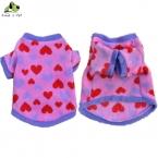 Собака зима теплая сердца толстовки розовый ватки свитер кошка два фута пальто одежда точка ткань одежды свитер Высокое качество
