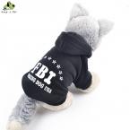 100 percent  хлопок небольшой собаки фбр печатных толстовки пальто свитер для щенка кота пальто осень зима костюм Apperal пальто Высокое качество