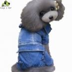 Новые Джинсовые Собака Куртка Одежда Персонализированные Pet Puppy Cat Джинсы Пальто Одежда Для Собак Тедди Пудель Чихуахуа Бесплатная Доставка
