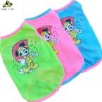 Мелких животных собаки кошки полоса жилет футболка микки маус шаблон вентилируемые сетки стиль полиэстер материал для собак Высокое качество