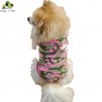 Весна Лето Одежда Для Собак Pet Розовый Камуфляж Жилет Футболка   Дешевый Хлопок Одежда Для Собак Размер S-XL Бесплатная Доставка