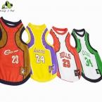 Четыре баскетбольные команды собака жилет одежда мода  горячая распродажа Pet футболка весна лето Высокое качество баскетбол собака жилеты