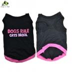 Малый домашних собак правило кошки слюни милый хлопка жилет футболка весна лето пагги костюмы одежда для собак размер XS-L бесплатная доставка