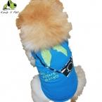 100 percent  хлопок домашних собак весна лето мило камеры печатным рисунком жилеты футболка костюмы одежда для собак размер XS-L Высокое качество